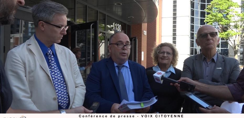 Jean Rousseau, François Marchand, Monique Gagnon et Simon Bégin