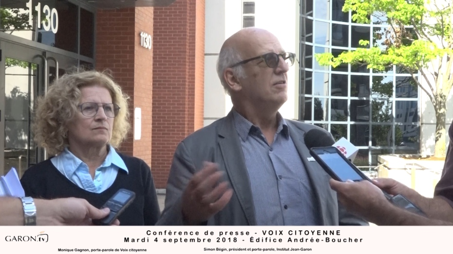 Simon Bégin, président et porte-parole de l'Institut Jean-Garon